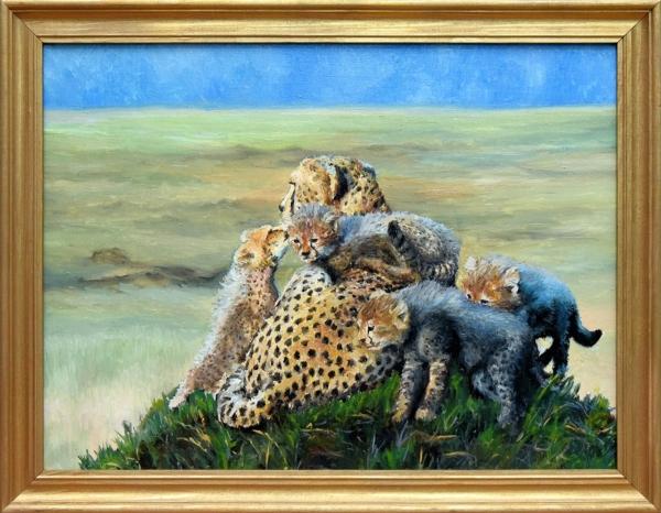 Картина «Мама» - живопись, автор Сергей Елизаров, холст, масло, 30×40 см, 2016 год в раме