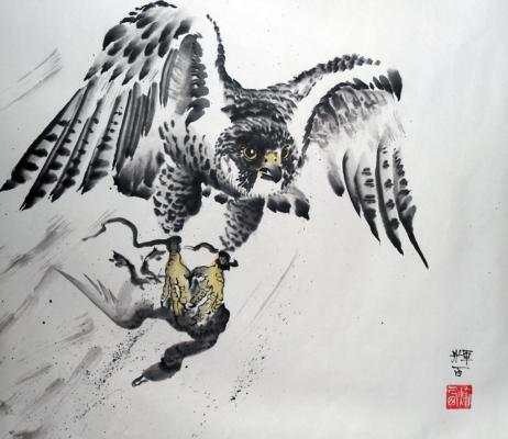 Японская живопись «Суми-э»