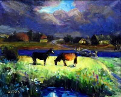 Картина «Гроза прошла» - автор Химочка С. И., живопись, холст, масло, 40×50 см, 2013 год.