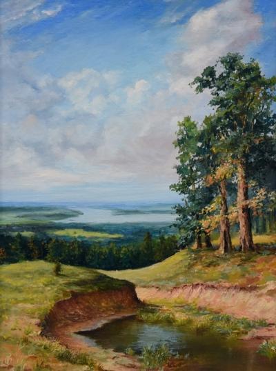 Картина «Лето» - автор Сергей Елизаров, живопись, холст, масло, 30×40 см, 2017 год.