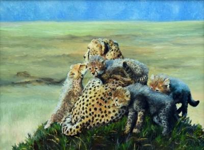 Картина «Мама» - живопись, автор Сергей Елизаров, холст, масло, 30×40 см, 2016 год