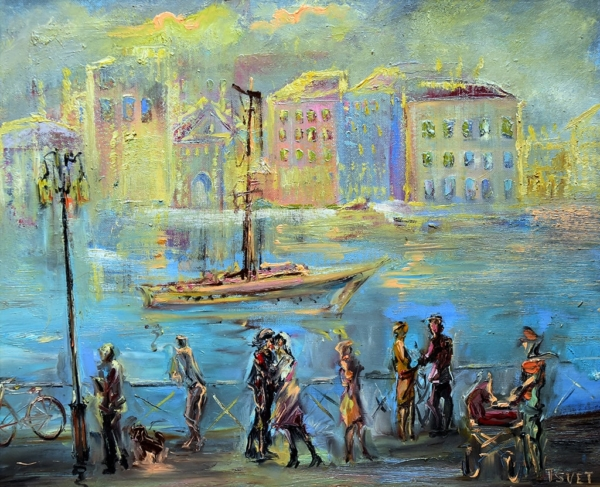 Картина «Променад» - автор Елена Цветкова, живопись, холст, масло, 50×60 см, 2017 год.