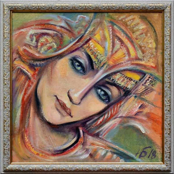 Картина «Раздумье» в раме