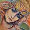 Картина «Раздумье» - автор Баженова Наталья, живопись, холст, масло, 40×40 см, 2018 год.