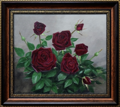 Картина «Розы» в раме