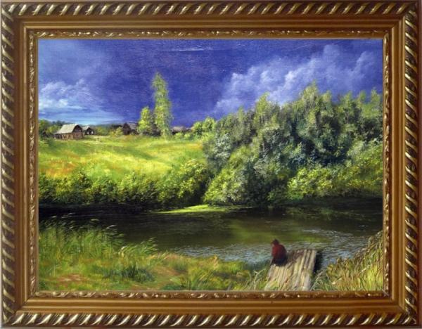 Картина «Перед дождём» - автор Сергей Елизаров, живопись, холст, масло, 50×65 см, 2013 год. в Раме