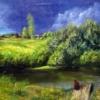 Картина «Перед дождём» - автор Сергей Елизаров, живопись, холст, масло, 50×65 см, 2013 год.