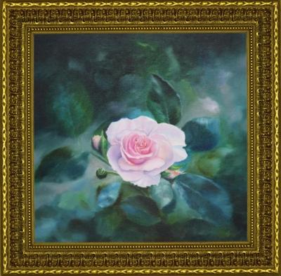 Картина «Нежность» - автор Сергей Елизаров, живопись, холст, масло, 40×40 см, 2018 год. В раме