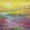 Картина «Поле маков» - автор Баженова Наталья, живопись, холст, масло, 18×24 см, 2019 год.