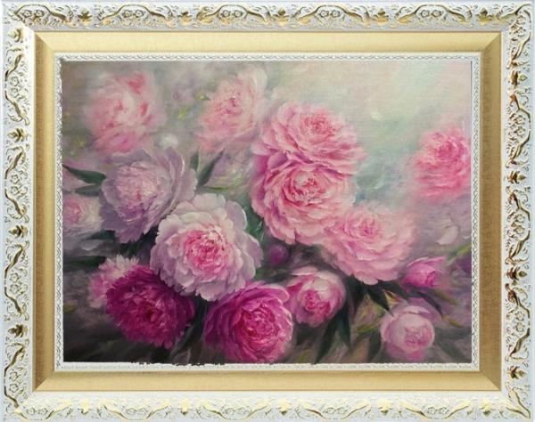 Картина «Энергия любви» - автор Альфия Пономаренко, живопись, холст, масло, 45×60 см, 2017 год в раме