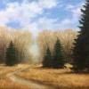 """Картина """"Ранняя весна"""" - автор Альфия Пономаренко, живопись, холст, масло, 40×70 см, 2018 год."""