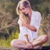 Картина «Девушка в лучах солнца» - автор художник Сергей Елизаров, живопись, холст, масло, 70×50 см, 2016 год.
