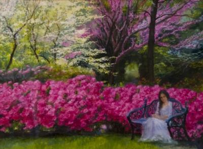 Картина «Этюд Летний вечер» - автор художник Сергей Елизаров, живопись, холст, масло, 30×40 см, 2016 год.