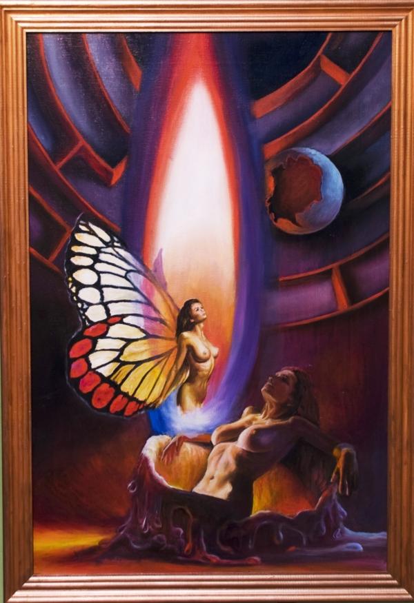 Картина «Лабиринт жизни» - автор художник Сергей Елизаров, живопись, холст, масло, 60×40 см, 2018 год. багет