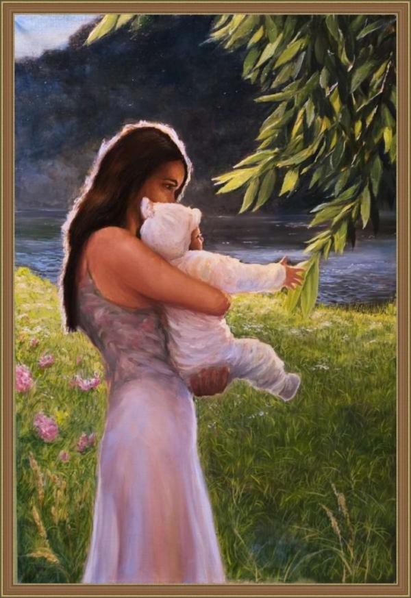 Картина «Новый чудный мир» - автор художник Сергей Елизаров, живопись, холст, масло, 60×40 см, 2016 год. багет