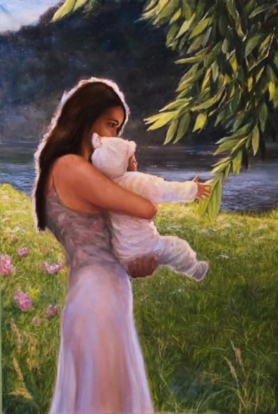 Картина «Новый чудный мир» - автор художник Сергей Елизаров, живопись, холст, масло, 60×40 см, 2016 год.
