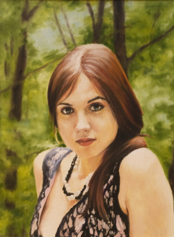 Картина «Ольга» - автор художник Сергей Елизаров, живопись, холст, масло, 40×30 см, 2016 год.