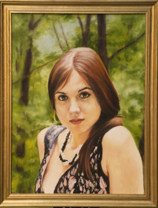 Картина «Ольга» - автор художник Сергей Елизаров, живопись, холст, масло, 40×30 см, 2016 год. Багет