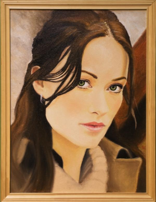 Картина «Оливия» - автор художник Сергей Елизаров, живопись, холст, масло, 40×30 см, 2013 год. Багет