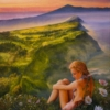 Картина «Последний полет бабочки» - автор художник Сергей Елизаров, живопись, холст, масло, 50×40 см, 2018 год.