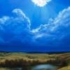 Картина «Последний снегопад» - автор художник Сергей Елизаров, живопись, холст, масло, 70×50 см, 2018 год.