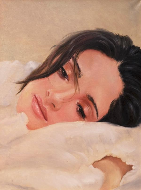 Картина «Пробуждение» - автор художник Сергей Елизаров, живопись, холст, масло, 40×30 см, 2016 год.