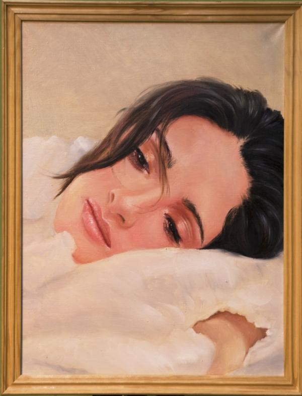 Картина «Пробуждение» - автор художник Сергей Елизаров, живопись, холст, масло, 40×30 см, 2016 год. Багет