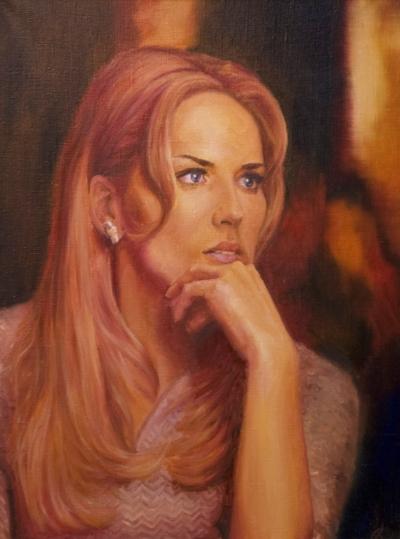 Картина «Шарон» - автор художник Сергей Елизаров, живопись, холст, масло, 40×30 см, 2015 год.