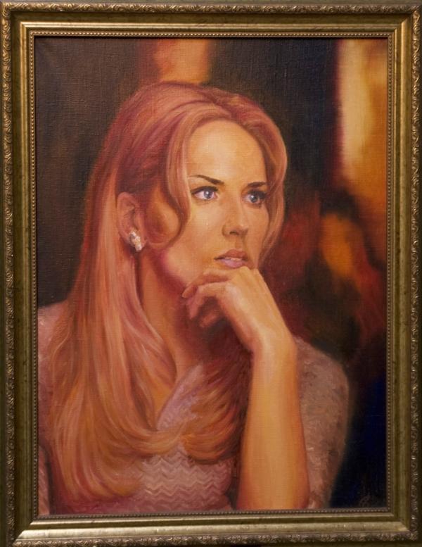 Картина «Шарон» - автор художник Сергей Елизаров, живопись, холст, масло, 40×30 см, 2015 год. В багетной раме