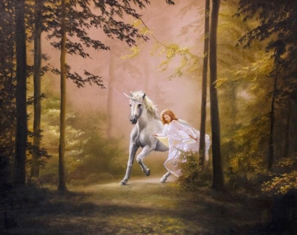 Картина «Сказочный лес» - автор художник Сергей Елизаров, живопись, холст, масло, 40×50 см, 2019 год.