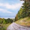 Картина «Соборная гора п.Одоев» - автор художник Сергей Елизаров, живопись, холст, масло, 50×70 см, 2018 год.