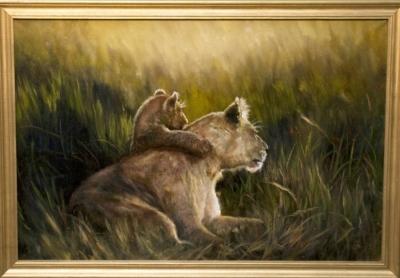 Картина «Уверенность» - автор художник Сергей Елизаров, живопись, холст, масло, 40×60 см, 2019 год. В багетной раме