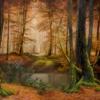 Картина «Арденский лес» - автор художник Сергей Елизаров, живопись, двп, масло, 50×70 см, 2018 год.