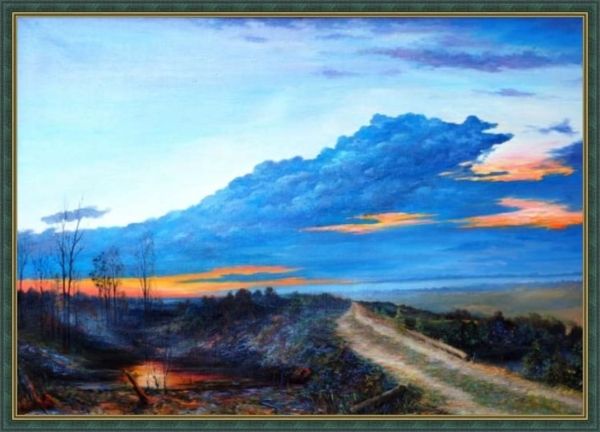 Картина «Ласточки» Вид в багетной раме