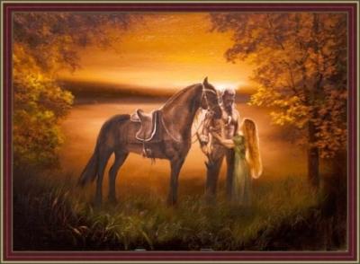 Картина «Сага» - автор художник Сергей Елизаров