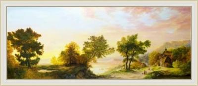 Картина «Сквозь стрекот цикад доносится монотонный звон колокола» - автор художник Сергей Елизаров,
