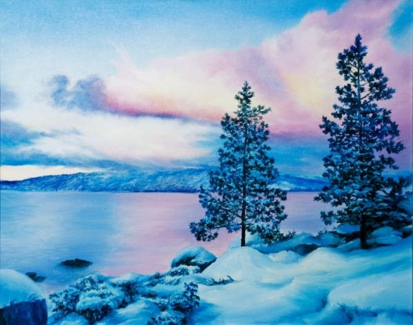 Картина «Тишина» - автор художник Сергей Елизаров, живопись, холст, масло, 40×50 см, 2019 год.