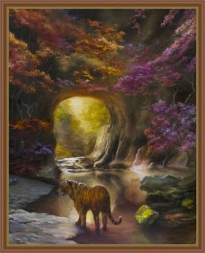 Картина маслом «Выбор» - автор художник Сергей Елизаров, живопись, холст, масло, 50×40 см, 2019 год.