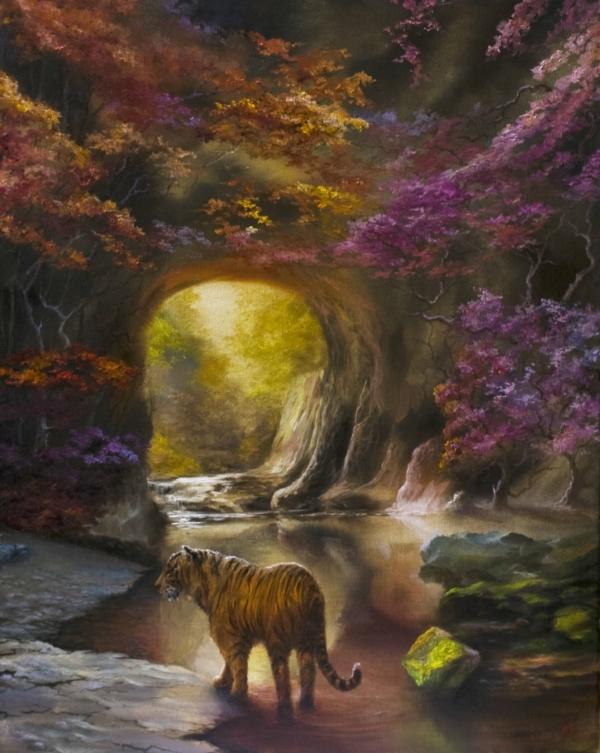 Картина «Выбор» - автор художник Сергей Елизаров, живопись, холст, масло, 50×40 см, 2019 год.