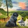 Картина «Друг» - автор художник Сергей Елизаров, живопись, холст, масло, размер - 40×50 см, 2019 год.