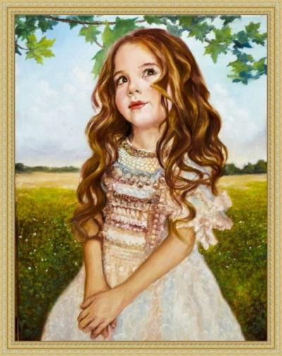 Картина «Дудочка или кувшинчик» - автор художник Сергей Елизаров, живопись, холст, масло, 40×30 см, 2019 год. Вид в багетной раме.