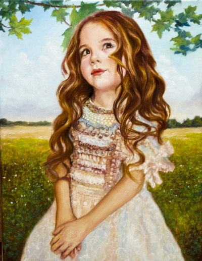 Картина «Дудочка или кувшинчик» - автор художник Сергей Елизаров, живопись, холст, масло, 40×30 см, 2019 год.