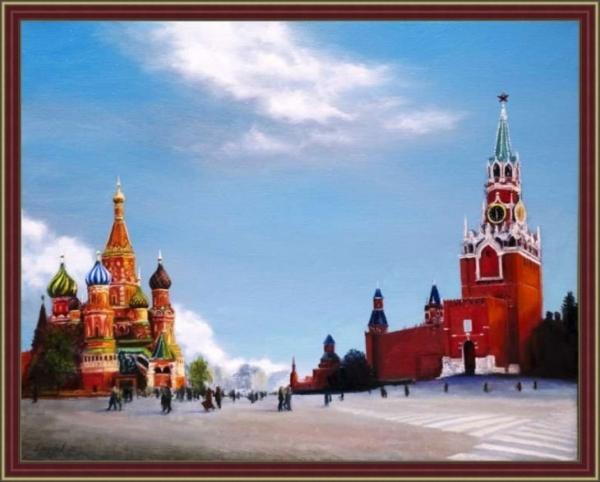 Картина «Красная площадь» Вид в багетной раме