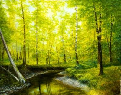 Картина «Лес весной»