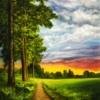 Картина «Майский гром» - автор художник Сергей Елизаров, живопись, холст, масло, 50×40 см, 2019 год.