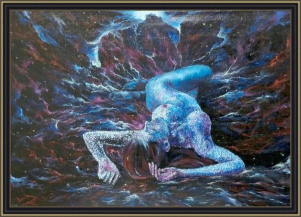 Картина «Рождение галактики» - автор художник Сергей Елизаров