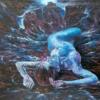 Картина «Рождение галактики» - автор художник Сергей Елизаров, живопись, холст, масло, 50×70 см, 2018 год.