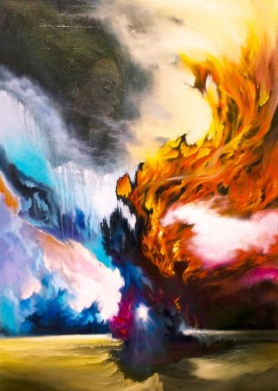 Картина «Сибирь» - автор художник Сергей Елизаров, живопись, холст, масло, 70×50 см, 2019 год