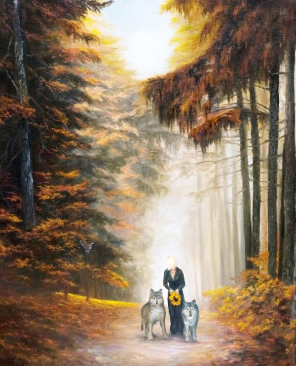 Картина «Сумеречный дозор» - автор художник Сергей Елизаров, живопись, холст, масло, 50×40 см, 2019 год.