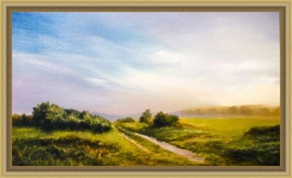 Картина «Утро» - автор художник Сергей Елизаров, Вид в раме